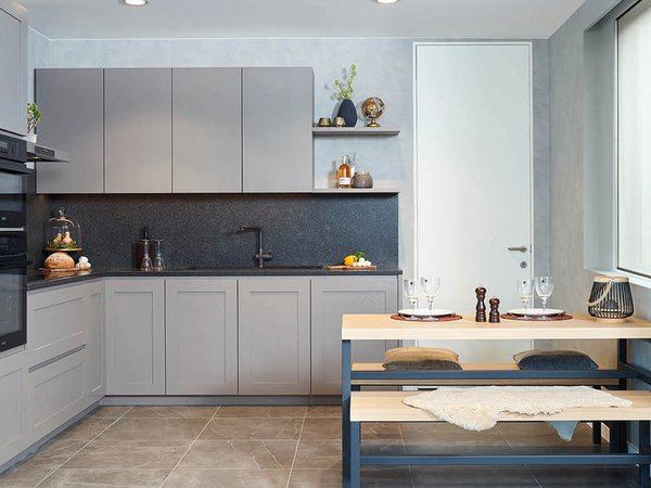 Landelijke L-keuken - Model New York-Design