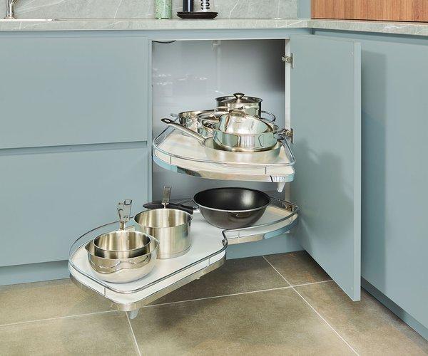 Groene vintage keuken - Model Design - Uittrekbaar draaiplateau