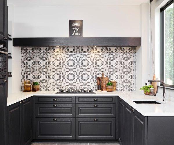 Cuisine rustique anthracite - Modèle Cottage