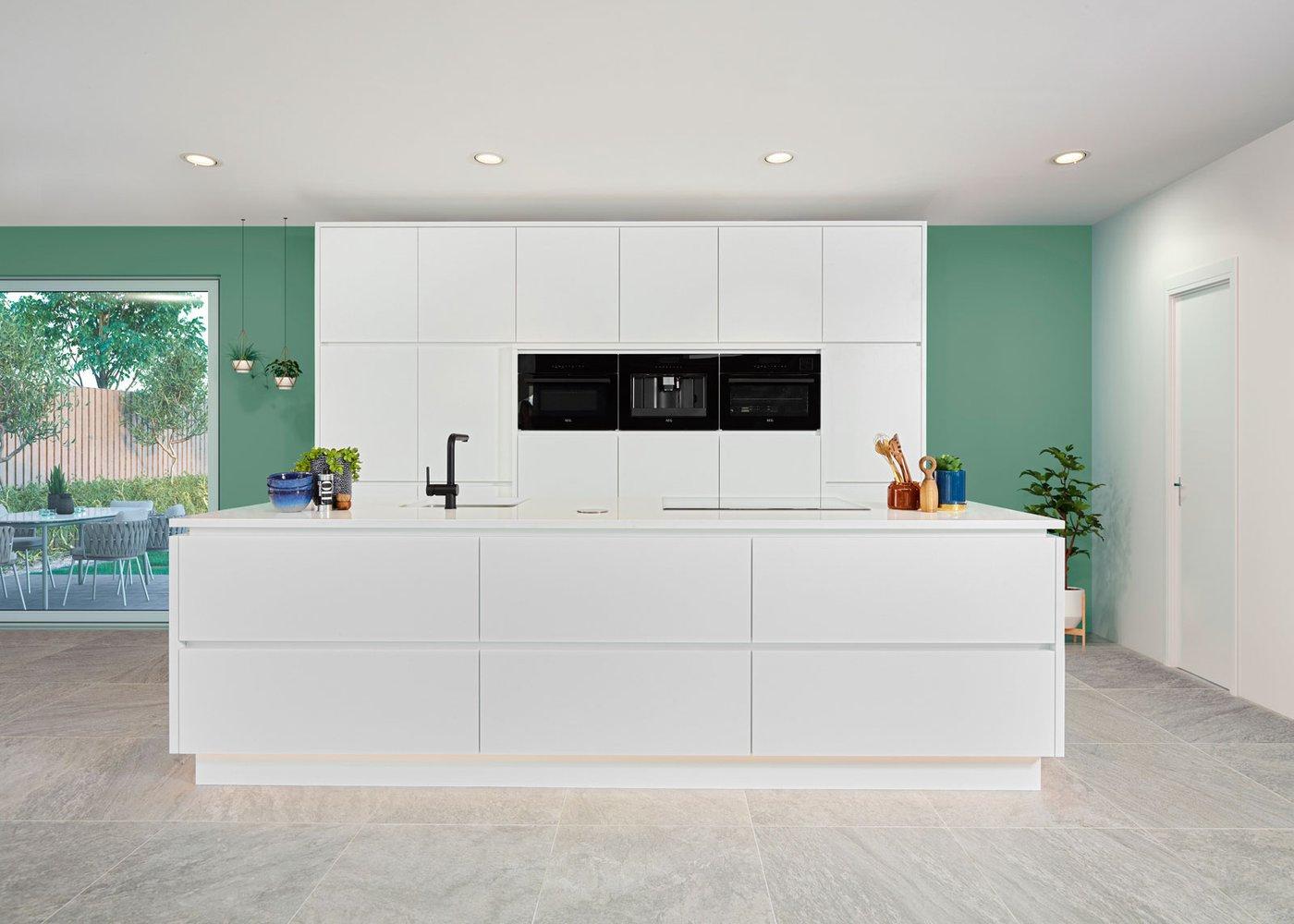 Cuisine blanche spacieuse - Modèle Design