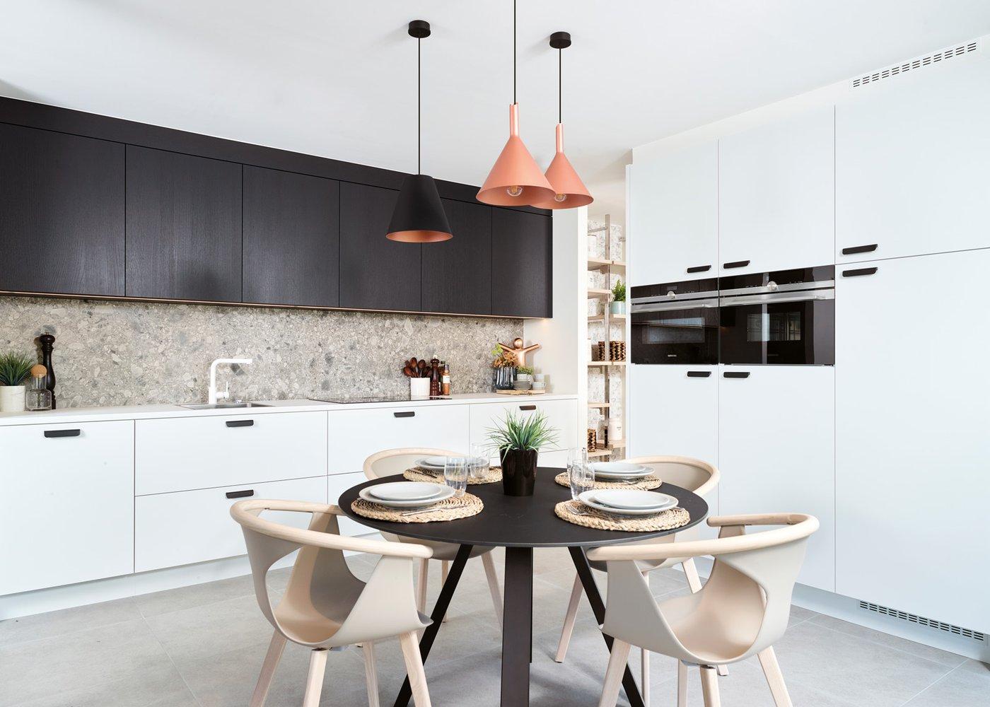 Witte moderne keuken - Model Toronto