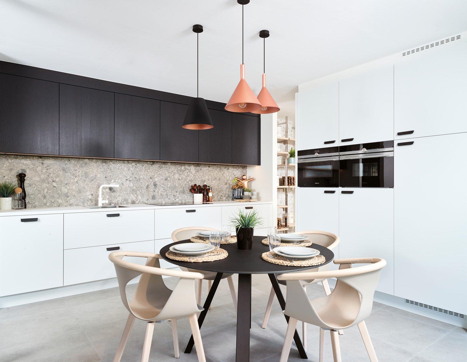 Cuisine moderne blanche - Modèle Toronto