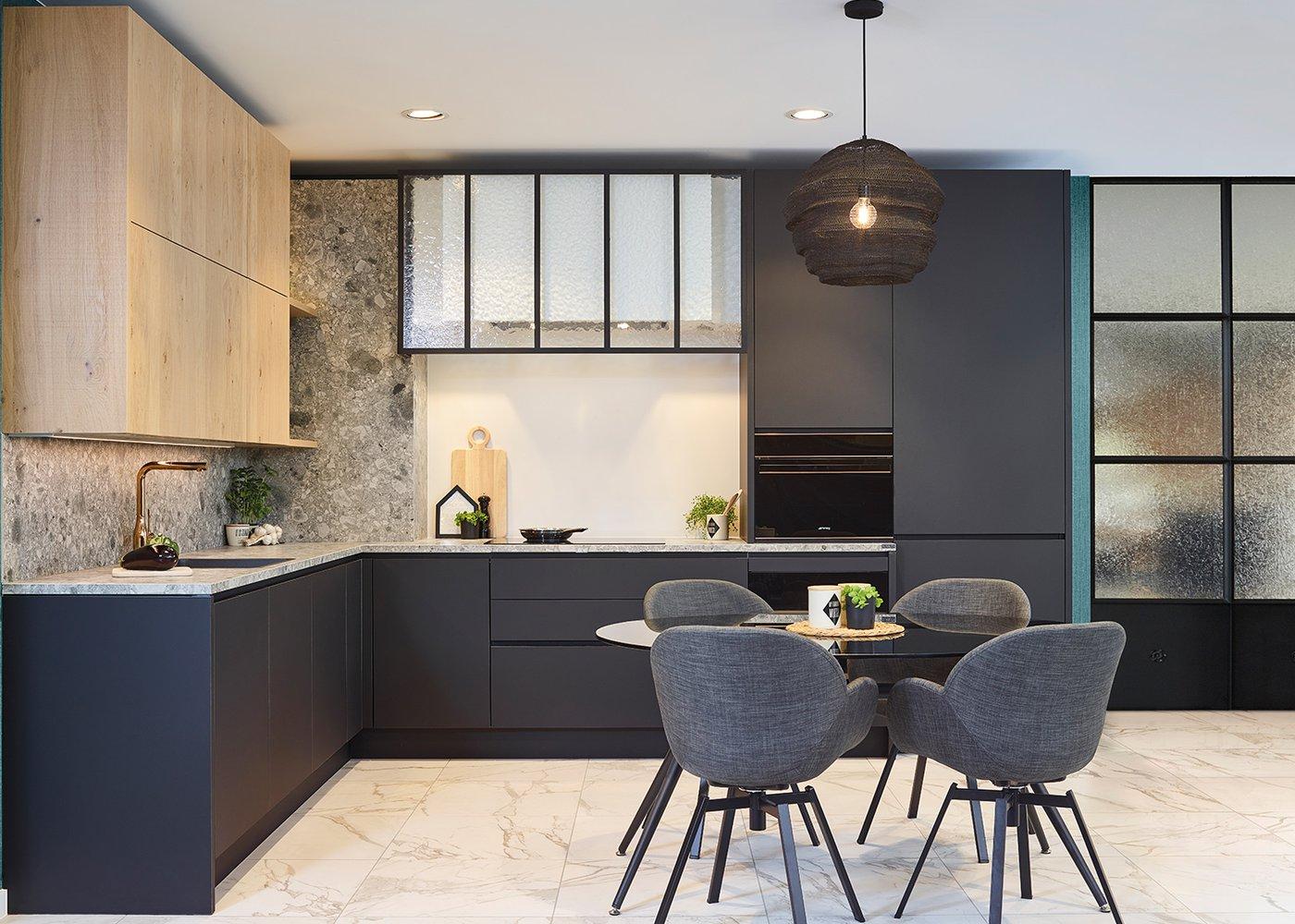 Moderne keuken in fineer scarved oak - Model Design