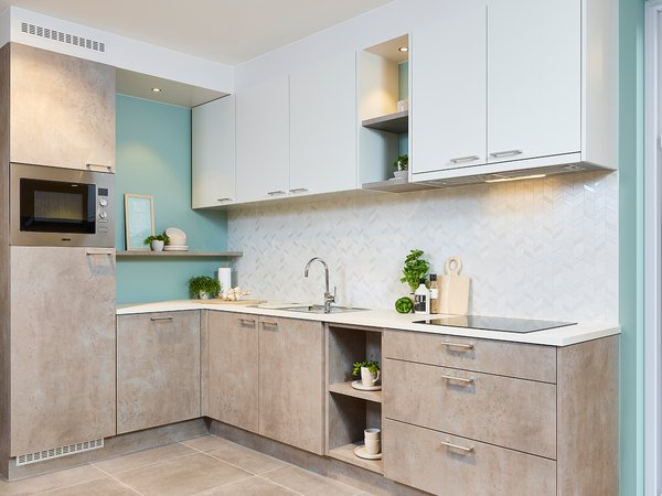 Moderne keuken in betonlook - Model Toronto