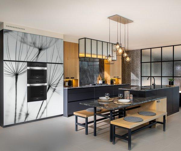 Portes d'armoires de cuisine imprimées avec photo