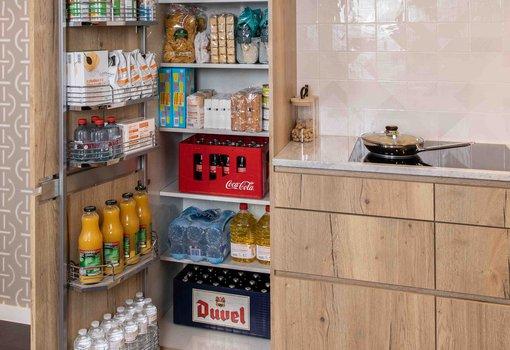 Voorraadkast Tandemside - warme frigo - Dovy Keukens