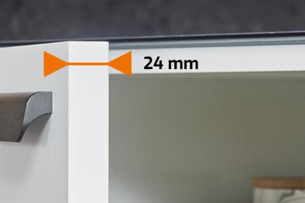 Exclusief: kastdeuren in 24 mm dikte