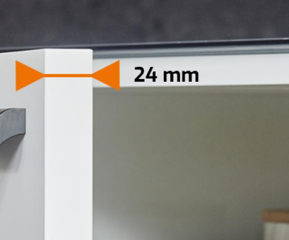 Exclusif : portes d'armoire de 24 mm d'épaisseur