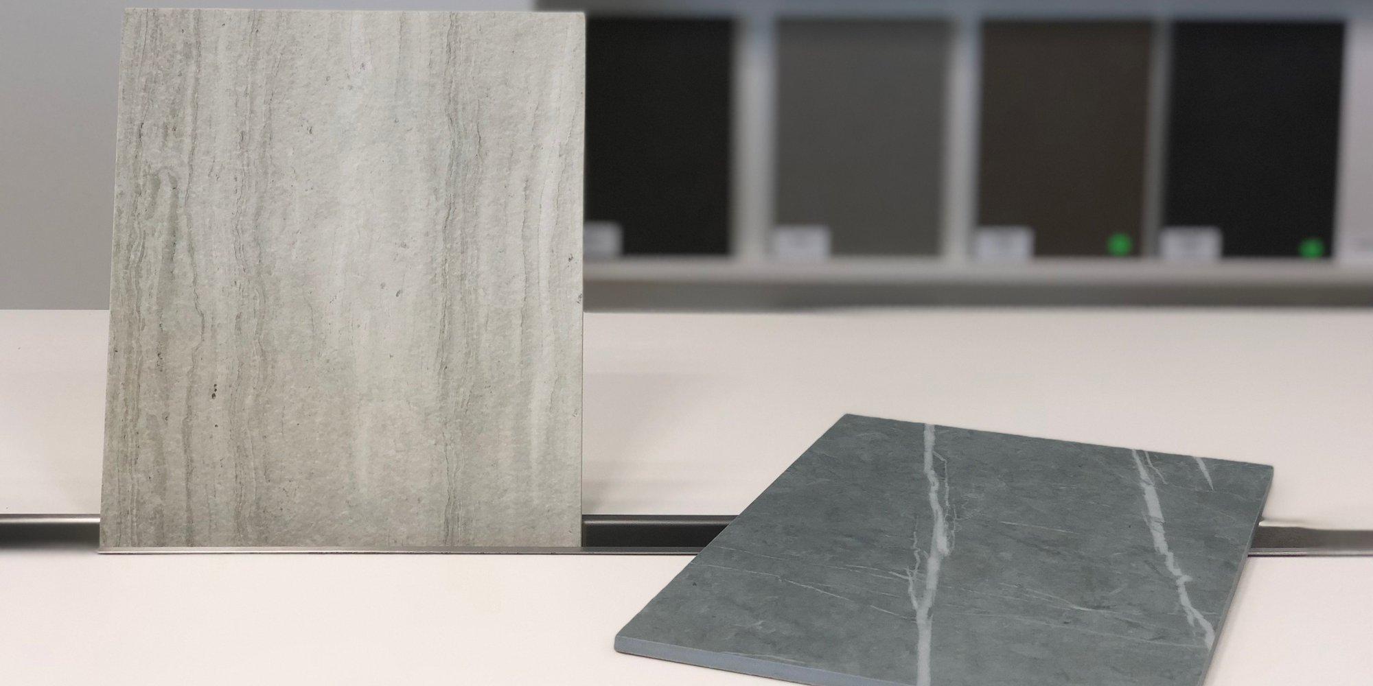 2 nieuwe kleuren keramiek: Strata Argentum Riverwashed en Zaha Stone Silk