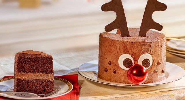 Chocoladetaart met Rudolf, het rendier