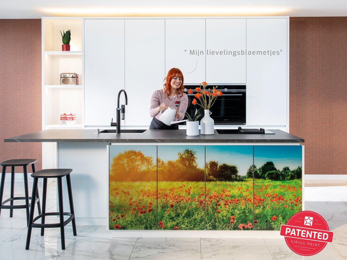 Gepersonaliseerde keukenkasten met fotoprint