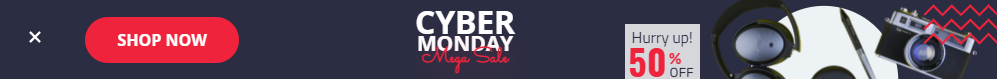Cyber Monday Mega Sale