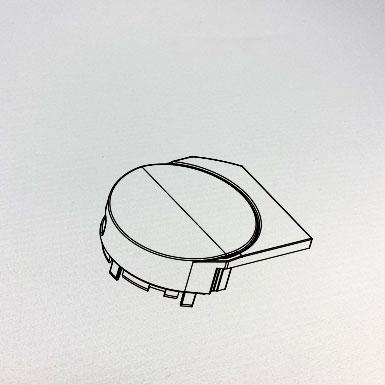 Endkappe Kette rund, 63 x 56 mm, links