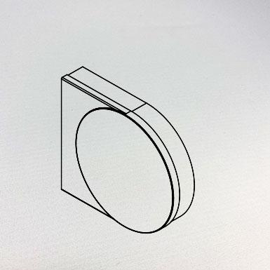 Endkappe breit, 55 x 36 mm