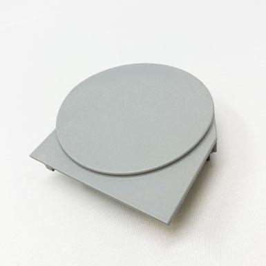 Endkappe Kette rund, 78 x 77 mm, rechts