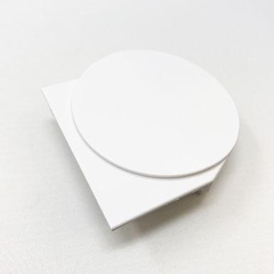 Endkappe rund, 78 x 77 mm, rechts