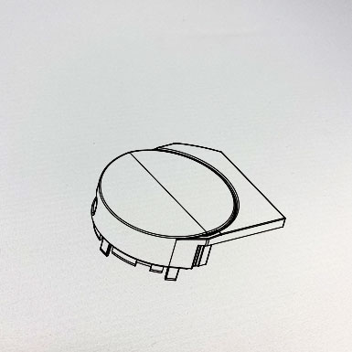 Endkappe Kette rund, links