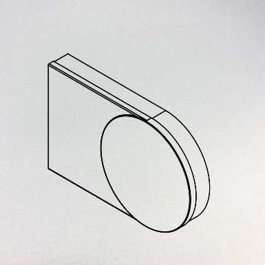 Endkappe breit, 55 x 60 mm