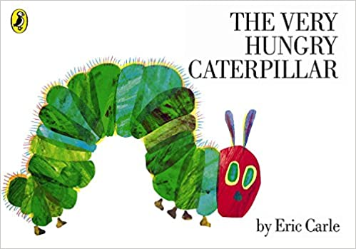 Use the book The Very Hungry Caterpillar by Eric Carle for reading lessons great for kindergarten and year 1 students to help them develop skills in comprehension and re-telling.