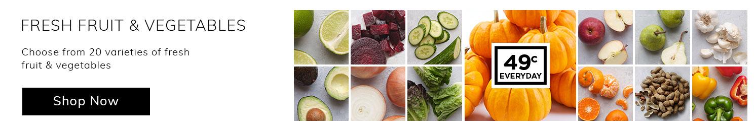 49c fruit & vegetables