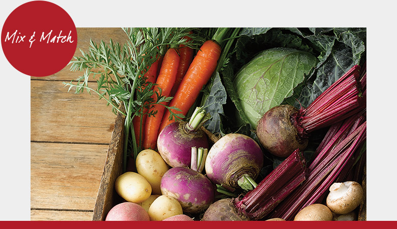 2 for €3 and 2 for €5 on select fresh fruit & vegetables