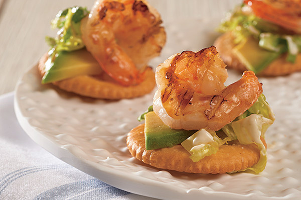 Avocado and Grilled Shrimp Toppers