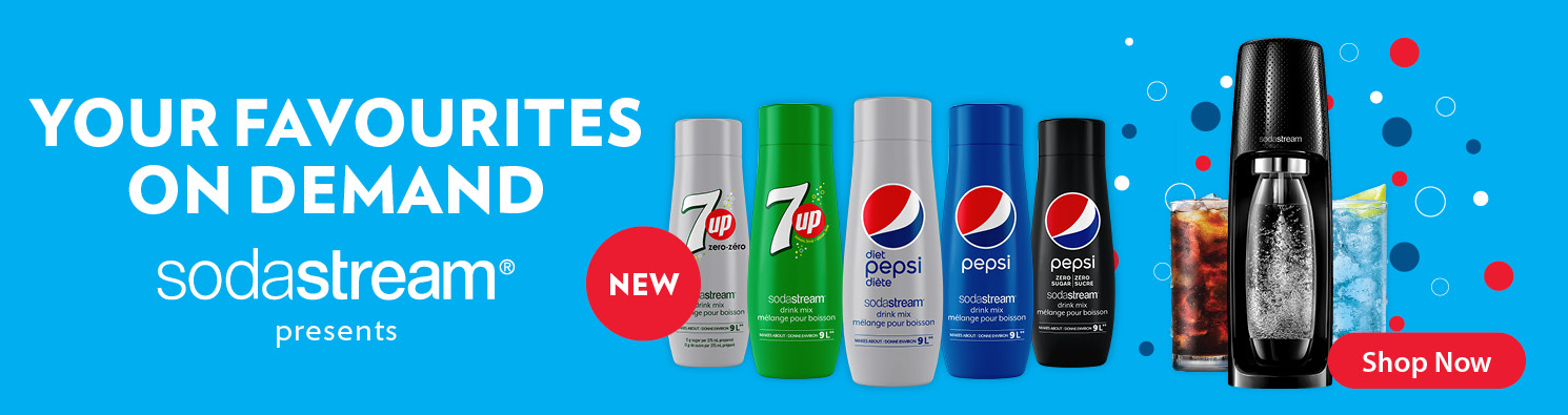 Sodastream presents your favourites on demand, shop Pepsi flavours