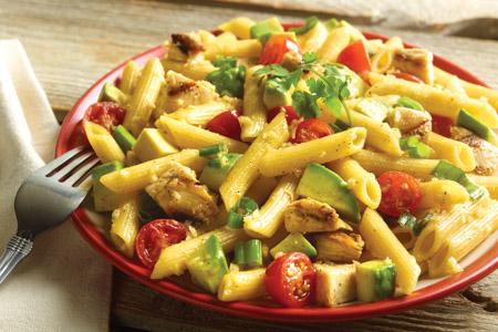 Grilled Avocado Chicken Pasta Salad Recipe