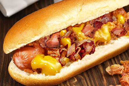 Smothered Bacon Cheesy Dogs