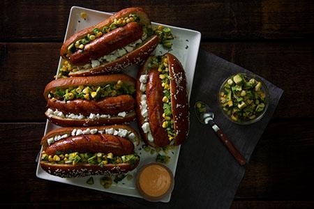 Mexican Avocado Corn Salsa Smoked Sausages Recipe