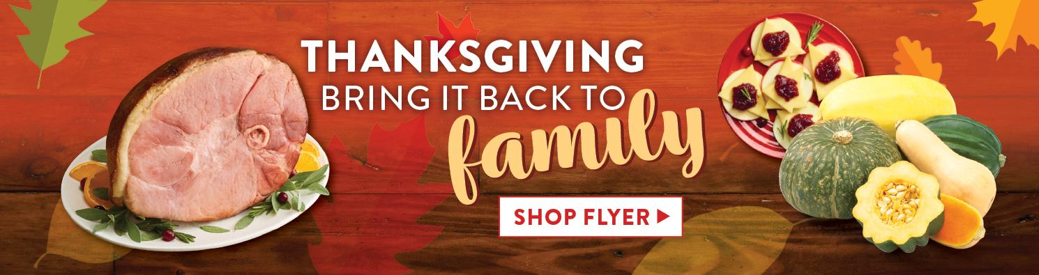 Thanksgiving - shop flyer deals