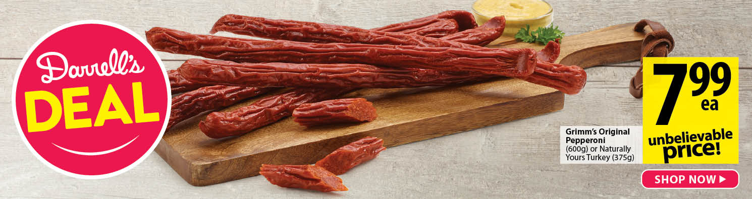 Darrell's Deal, gimm's pepperoni, 600g 7.99 each - Shop Now