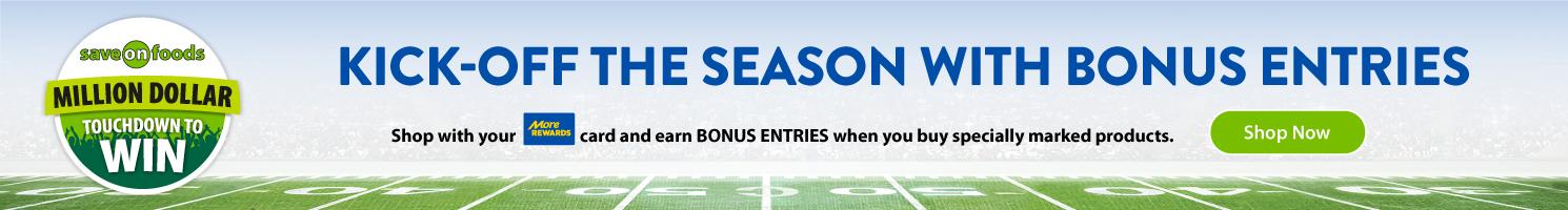 touchdown to win - kick off the season with bonus entries