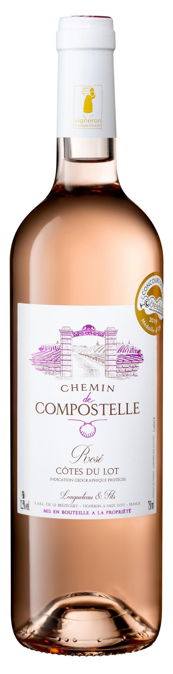 Chemin de Compostelle vin rosé 75 cl