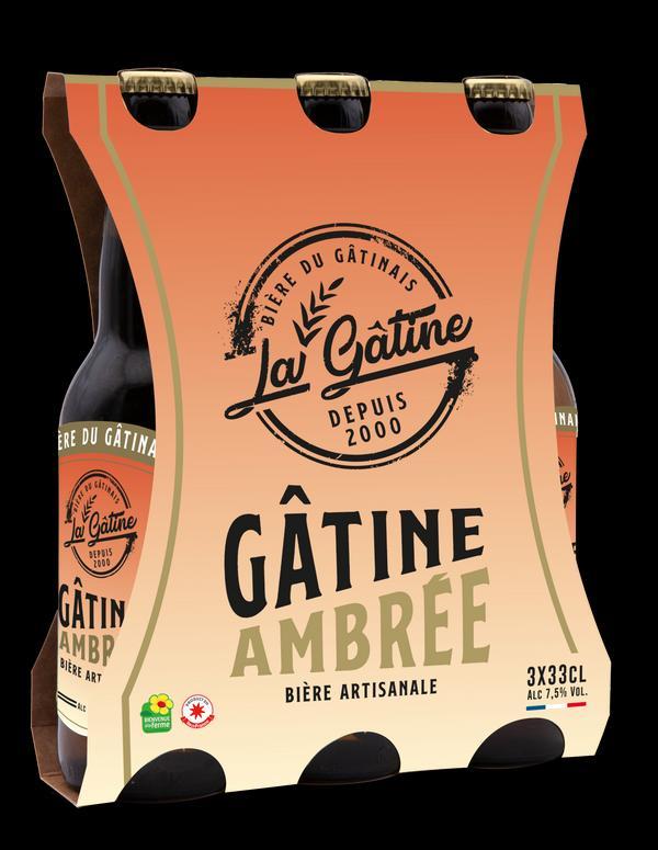 Bière La Gâtine Ambrée en pack de 3x33 cl
