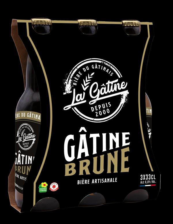 Bière La Gâtine Brune en pack de 3x33 cl