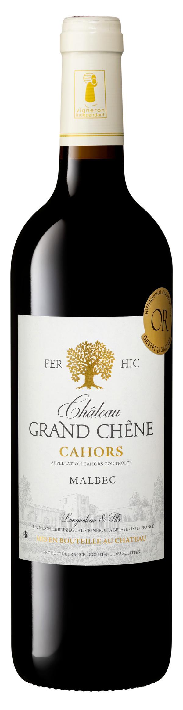 Château Grand Chêne vin rouge AOP Cahors cuvée Fer-Hic 2018 75 cl