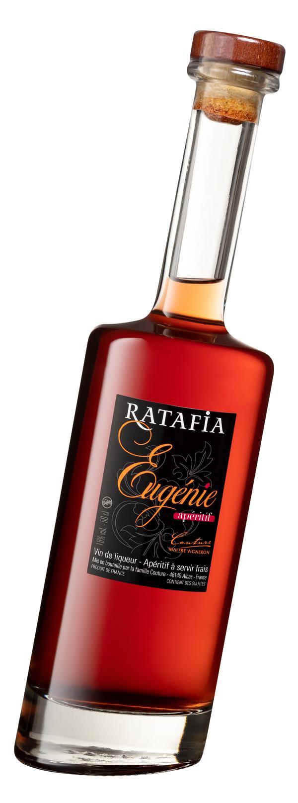Ratafia, Appéritif Traditionnel du Quercy ! dans sa bouteille penchée 50cl