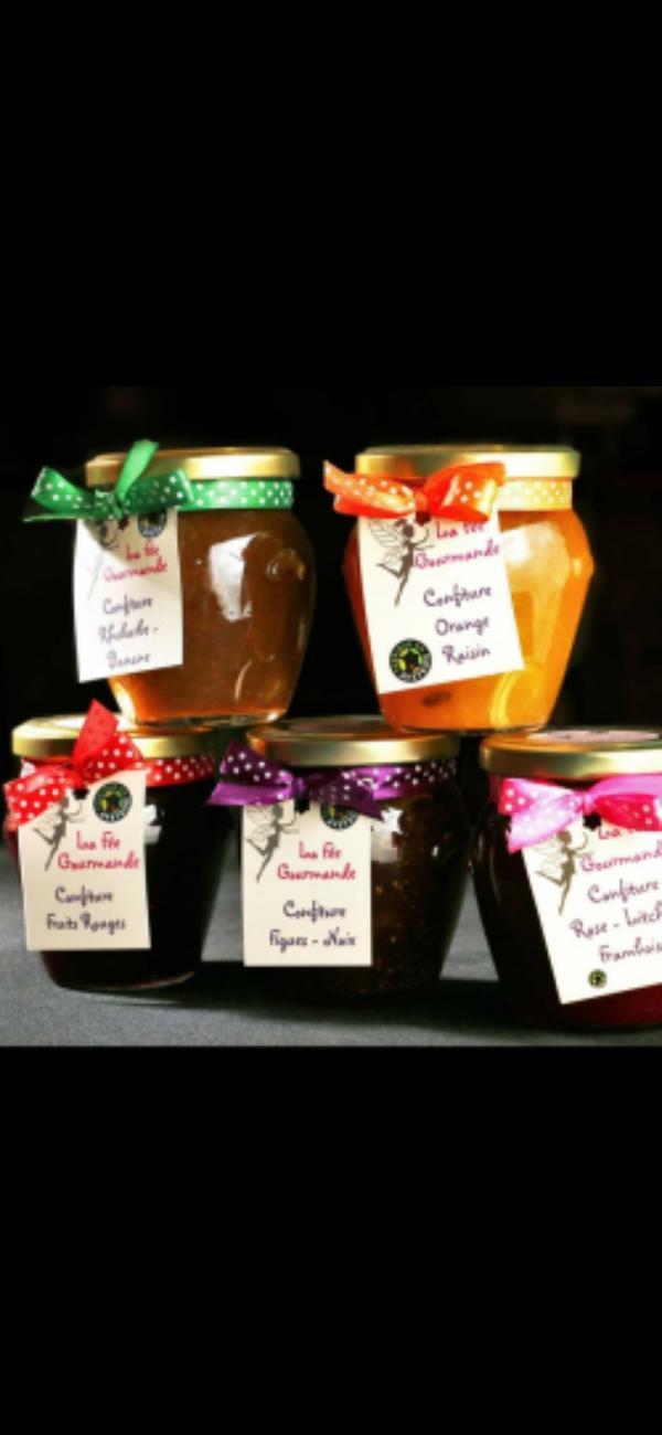 confiture orange/ rhum/ raisin