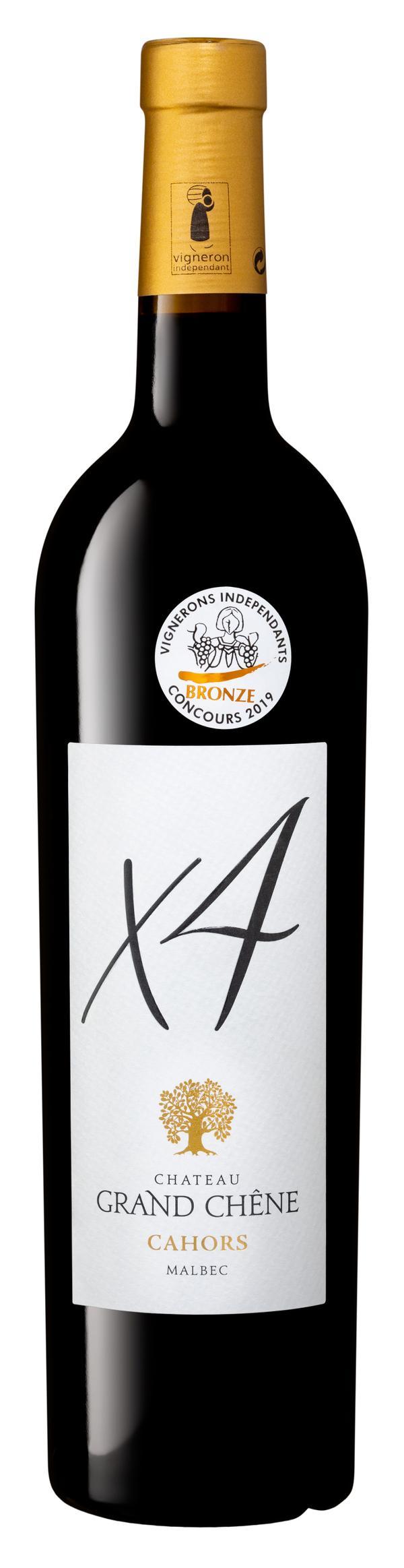 Château Grand Chêne vin rouge AOP Cahors 2018 cuvée X4 75 cl