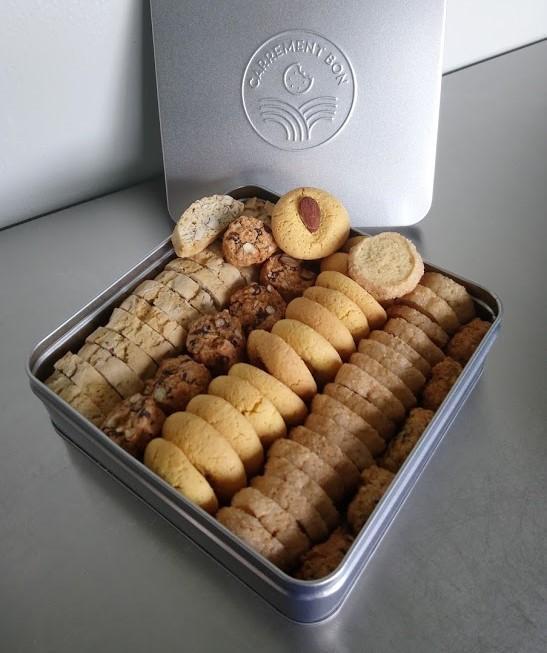Assortiment de biscuits BIO, grande boite garnie