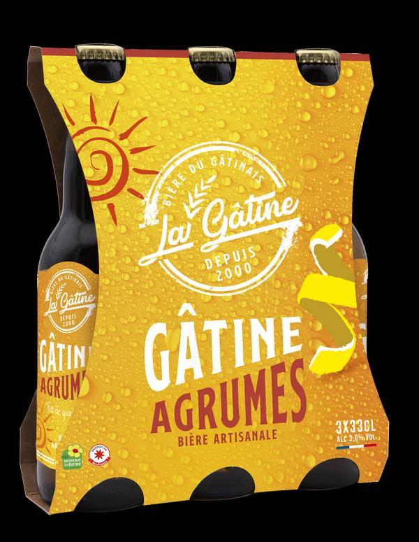 Bière La Gâtine Agrumes en pack de 3x33 cl