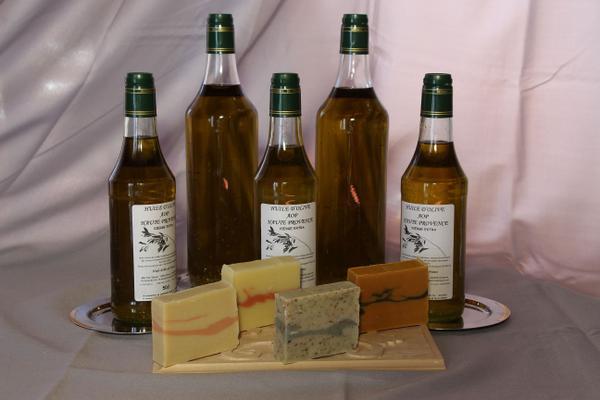 Huile d'olives BIO Aglandau -Tanche - Bouteillan - Variétés Locales
