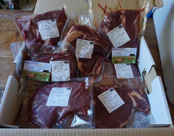 Colis de viande de boeuf Bio - 10kg