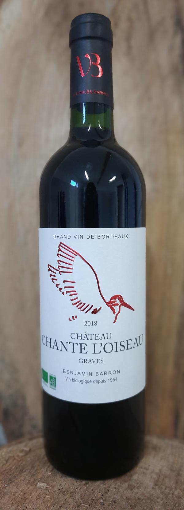 Château Chante l'Oiseau Graves rouge 2018