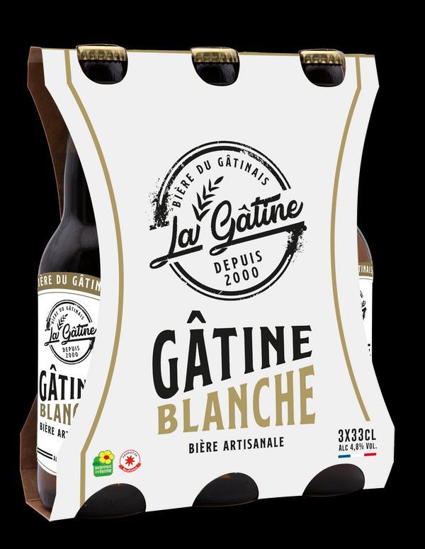 Bière La Gâtine Blanche en pack de 3x33 cl