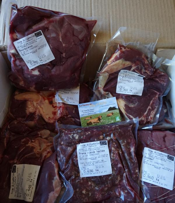 Colis de viande de boeuf Bio - 5kg