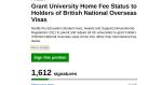 BNO 人士是蝗蟲? 記爭取英國本地學生學費聯署爭議