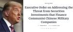 特朗普頒行政命令 禁美企業及個人投資中國軍方相關企業