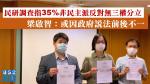 香港民研調查指35%非民主派反對無三權分立 梁啟智:或因政府說法前後不一